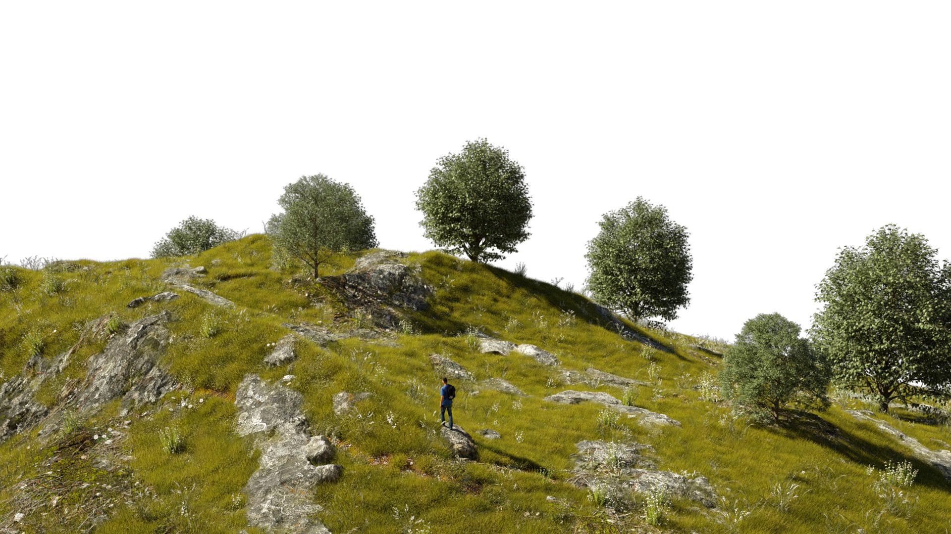 Mountain Render ZenMode Studio CGI vfx post-production milano